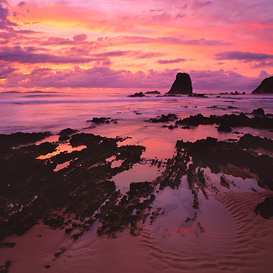 Dawn over Glasshouse Rocks, Narooma, NSW