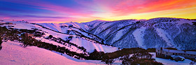 Dawn over Mount Hotham, Victorian Alps