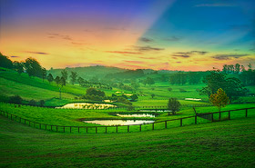 Highlands Farm Sunset, Southern Highlands, NSW