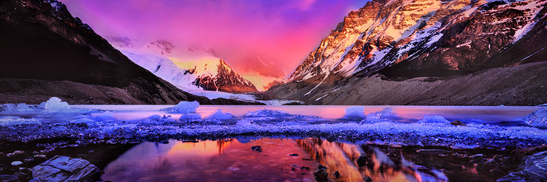 Sunrise at Laguna Torre, Los Glaciares National Park, Patagonia