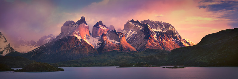Sunrise on Cuernos del Paine, Chilean Patagonia