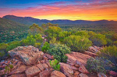 Sunset Inside Wilpena Pound, Flinders Ranges, SA