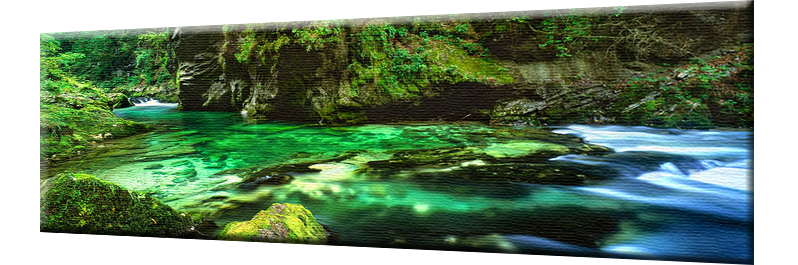 Vintgar Gorge - Stretched Canvas Print